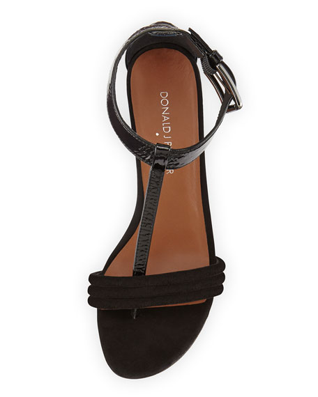 Viva Combo T-Strap Sandal, Black