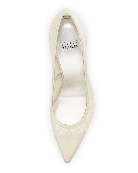 Lacepump Pointy-Toe Pump, Ivory