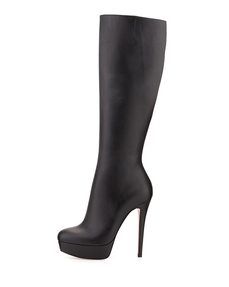 cheap for discount 84e6f 9c93c Bianca Botta Red Sole Knee Boot Black