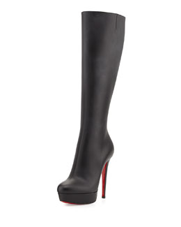 Christian Louboutin Bianca Botta Red Sole Knee Boot, Black