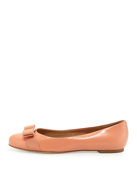 Varina Leather Ballet Flat, Rosa Corallo