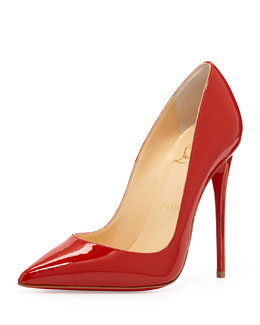 Christian Louboutin So Kate Patent Red Sole Pump, Red