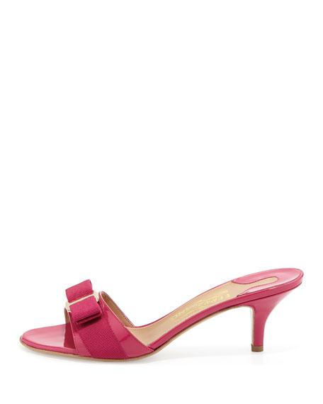 Glory Patent Bow Slide Sandal, Agata Rosa