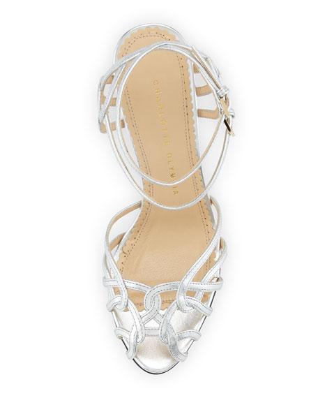 Ursula Strappy Platform Sandal, Silver
