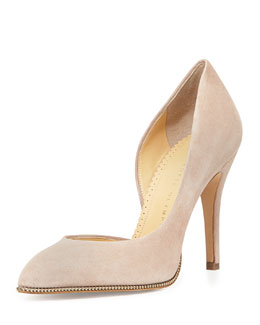 Charlotte Olympia The Lady is a Vamp Suede Pump