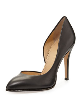 Charlotte Olympia The Lady is a Vamp Calf Nappa Leather Pump, Black