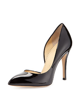 Charlotte Olympia The Lady is a Vamp Patent Pump, Black