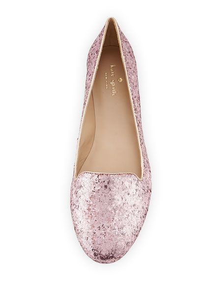 trick glittered smoking slipper, rose gold