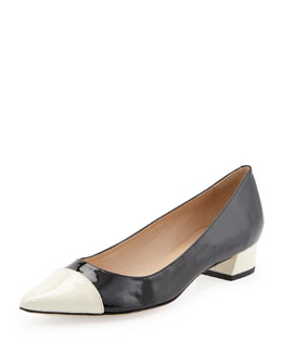 Kate Spade adie colorblock flat, black/cream
