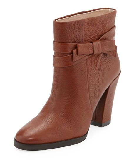 mannie bow ankle boot, luggage