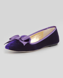 Kate Spade audrina velvet smoking slipper, viola