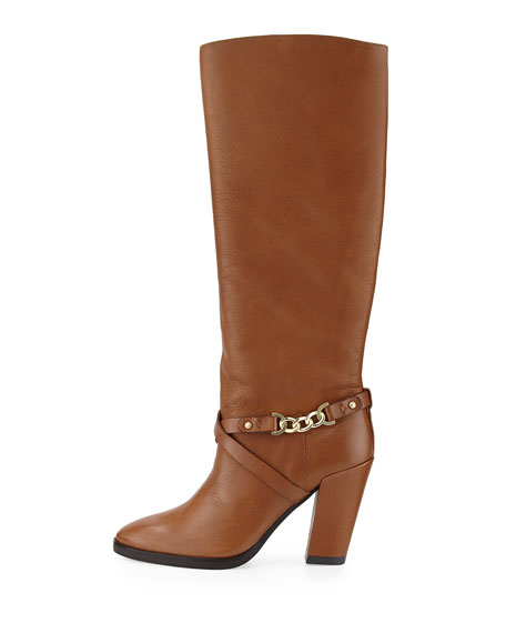 montreal chain-link leather boot