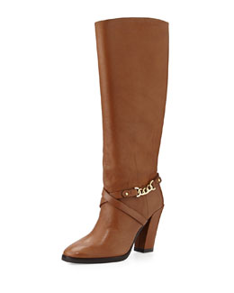Kate Spade montreal chain-link leather boot