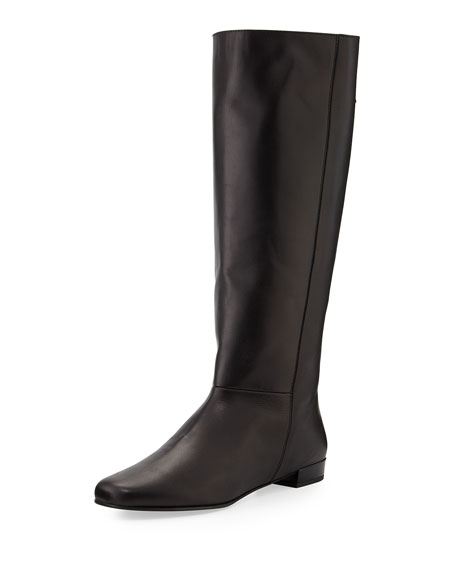 orlena knee-high flat boot, black