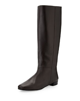 Kate Spade orlena knee-high flat boot, chocolate