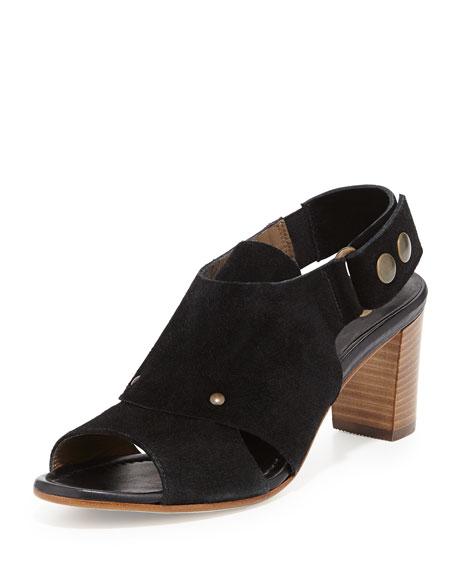 Athena Suede Slingback Sandal, Black