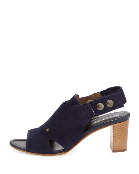 Athena Suede Slingback Sandal, Midnight