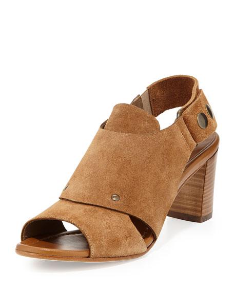 Athena Suede Slingback Sandal, Cuoio