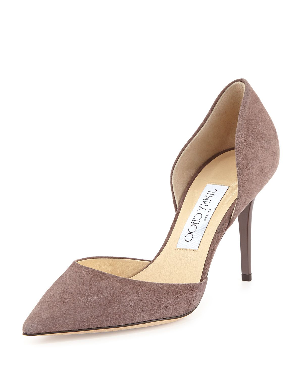 jimmy choo addison suede d orsay pump neiman marcus rh neimanmarcus com  jimmy choo addison 80 leather d'orsay pumps
