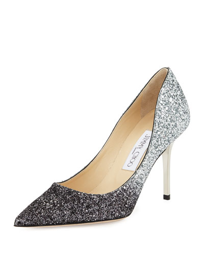 Jimmy Choo Agnes Glittered Degrade Pump