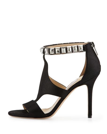 Hampton Shimmery Crystal-Cuff Sandal