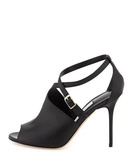Leigh Asymmetric Crisscross Glove Sandal