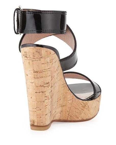 Xray Patent Cork Wedge, Black