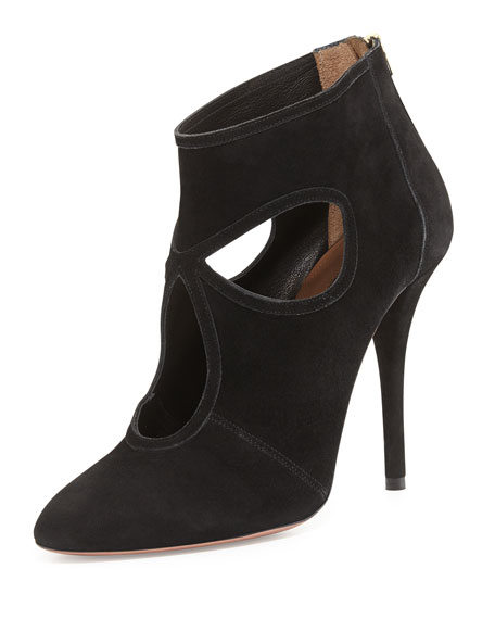 Sexy Thing Suede Bootie, Black
