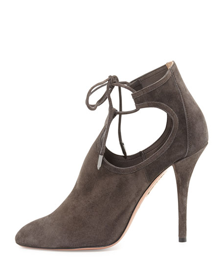 Babe Side-Cutout Suede Bootie