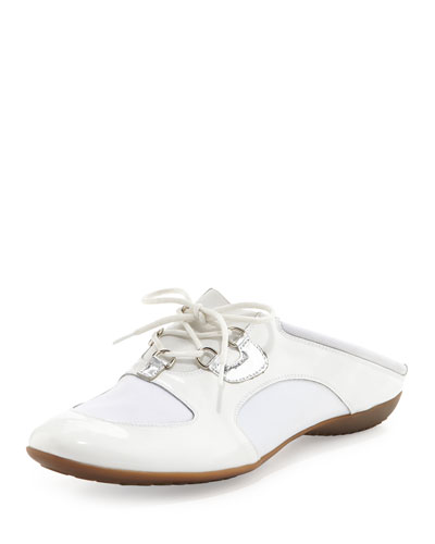 Briony Lace-Up Sneaker Mule, White