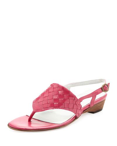 Sesto Meucci Gilda Woven Thong Sandal, Fuchsia