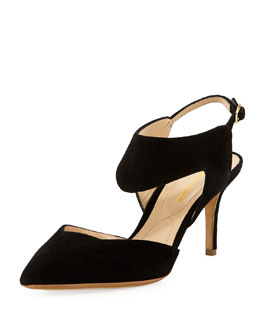 Nicholas Kirkwood Suede Two-Piece Pump, Black