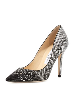 Jimmy Choo Tania Crystal Degrade Pump, Black