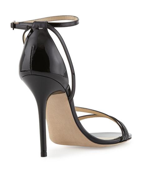 Valdez Strappy Patent Sandal, Black