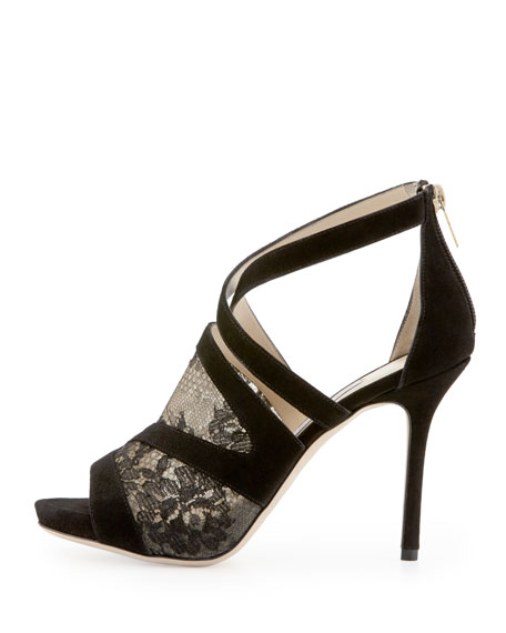 Virion Lace-Inset Glove Sandal