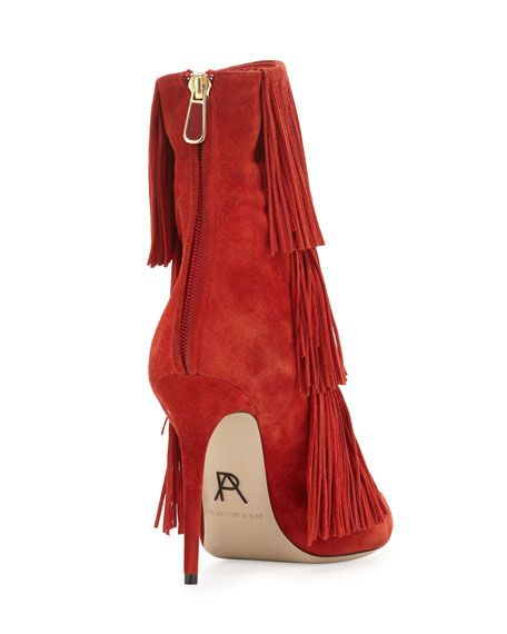 Taos Suede Fringe Bootie