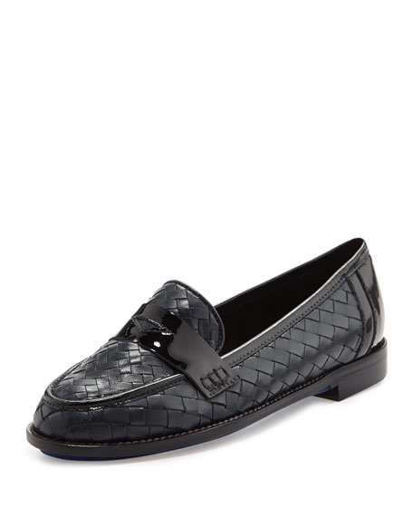 Sesto Meucci Nattie Woven Leather Loafer, Navy
