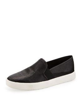 Vince Blair 5 Perforated Slip-On, Black