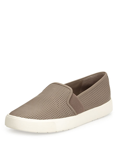 Vince Blair Perforated Slip-On Sneaker, Woodsmoke
