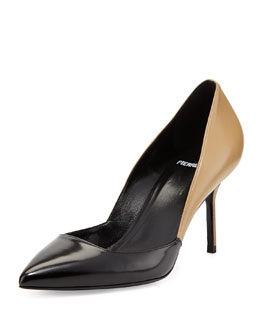 Pierre Hardy Colorblock Point-Toe Pump, Black/Camel