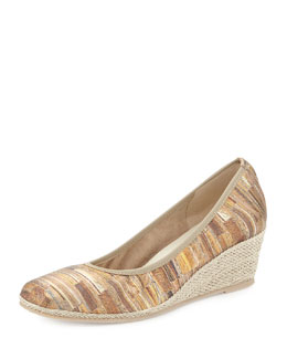 Sesto Meucci Malon Multi-Print Metallic Wedge Pump