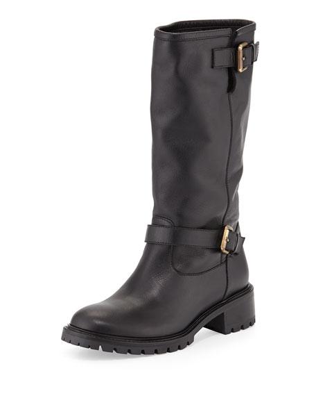 Fendi Leather Moto Boots top quality sale online wOyt4