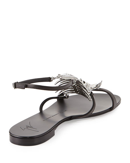 FISH BONE FLAT SANDAL