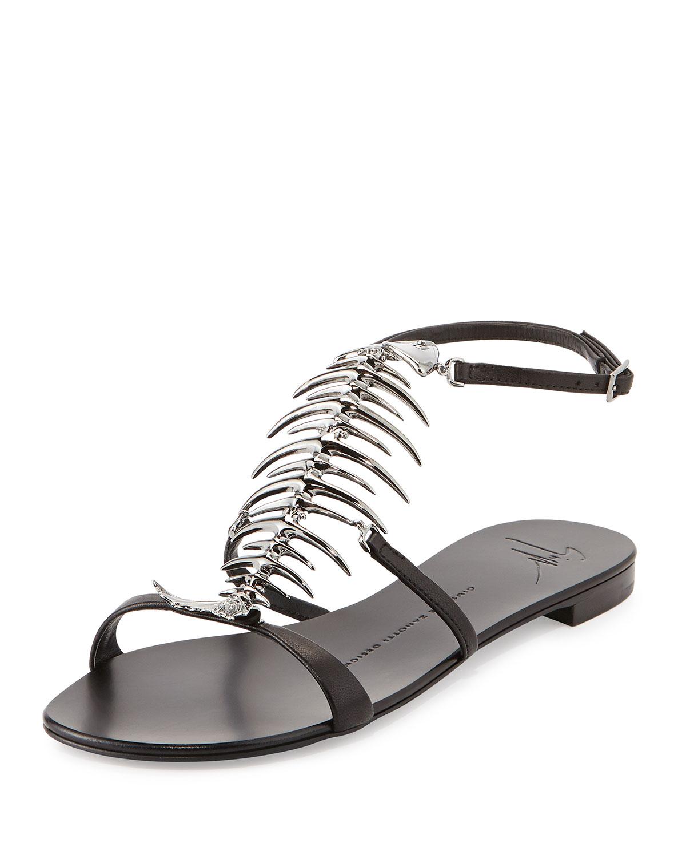 Giuseppe Zanotti Fishbone T-Strap Sandals buy cheap nicekicks rWCyi6Z2fE