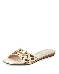 Shopping Product  Q Satin Leopard Print Shoes Women