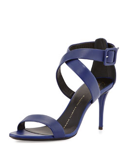 Giuseppe Zanotti Buckled Leather Crisscross Sandal