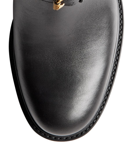 Motorcycle Horsebit Boot, Nero