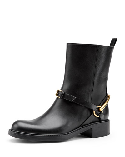 Gucci Motorcycle Horsebit Boot, Nero