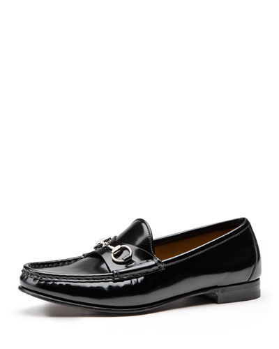 Gucci 60th Anniversary Leather Loafer, Nero