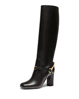 Gucci Knee Boot with Ankle Bit, Nero